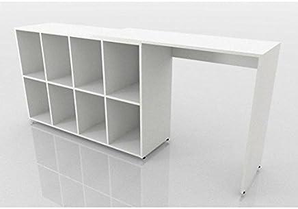 Mesa Para Computador Square Branco - Fitmobel