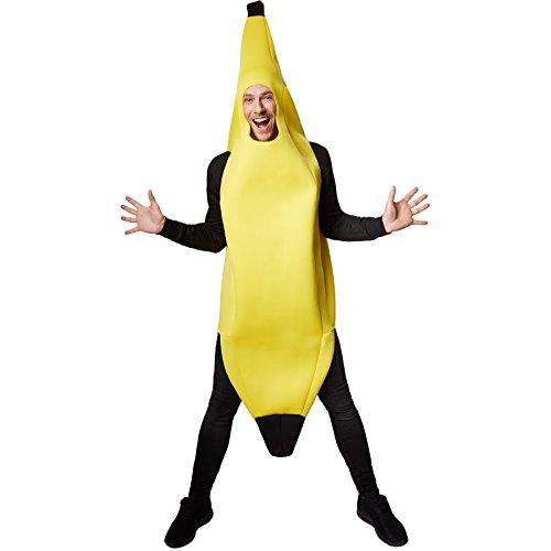 TecTake dressforfun Kostüm Banane Bananenkostüm | Super lustiges, ärmelloses, längeres Oberteil | Stabiles Material | Cooles und ulkiges Kostüm (L | Nr. 301626)