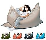 sunnypillow XXL Sitzsack, Riesensitzsack Outdoor & Indoor 180 x 145 cm mit 380L Styropor Füllung Sessel für Kinder & Erwachsene Sitzkissen Sofa Beanbag viele Farben und Größen zur Auswahl Grau