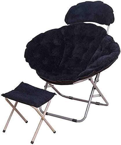 N/Z Home Equipment Lounge Stuhl Liegestuhl Klappstuhl Bett Stuhl Moon Tragbarer Mittagspause Stuhl 6 Farben (Farbe: D Größe: 1) Größe: 1 Farbe: F (Farbe: A Größe: 1)