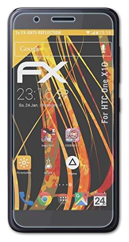 atFolix Panzerfolie kompatibel mit HTC One X10 Schutzfolie, entspiegelnde & stoßdämpfende FX Folie (3X)