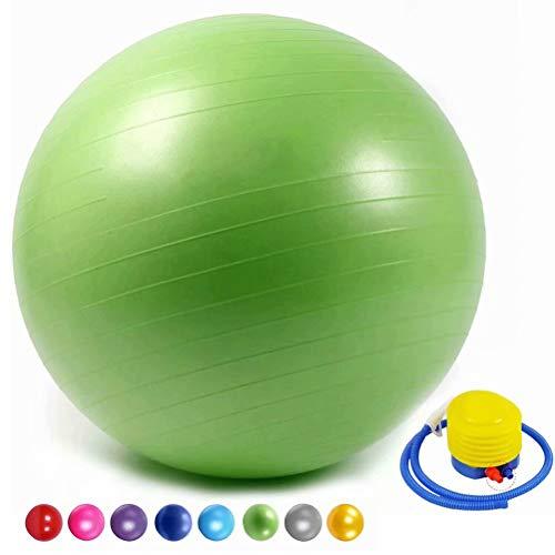 SONGHUI Anti-Burst Gymnastikball,Rückenübungen und Dehnübungen,Stabilitäts-Grün,60cm