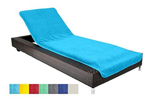 Brandsseller Housse de Protection pour Chaise Longue de Jardin de Plage en éponge 100 % Coton Environ 75 x 200 cm Couleur: Turquoise