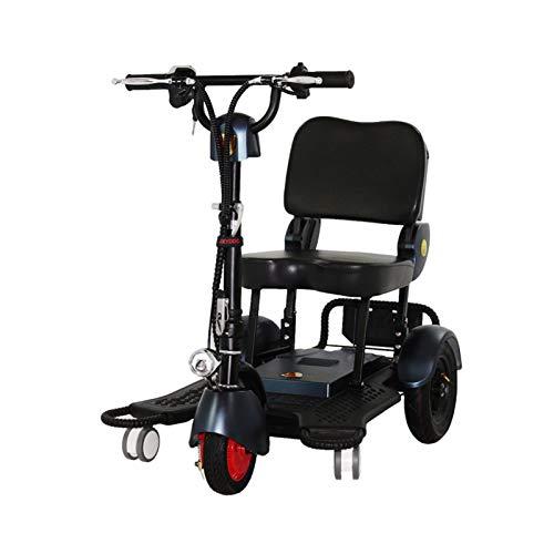 LINGZE Scooter eléctrico, Velocidad máxima 24 km/h, 40 KM Potente batería con neumáticos de 10 '' Bicicleta eléctrica Plegable para Adultos, niños