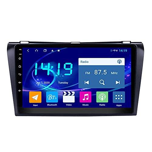 yanzz Autoradio Stereo Adatto per Mazda 3 2004-2009 in Dash Navigatore GPS da 9 Pollici Supporto unità Principale USB SD Dab RDS Video Bluetooth WiFi SWC Mirror Link Telecamera di Backup 4 GB + 64