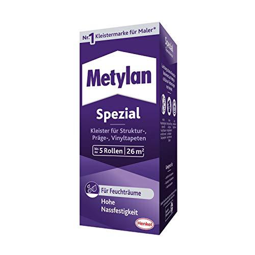 Metylan Spezial Tapetenkleister, hochwertiger Kleister für Raufasertapeten und Spezialtapeten, ideal zum Überstreichen, für bis zu 26 m² (1x200 g)