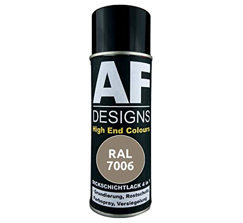 4 in 1 RAL 7006 Beigegrau Dickschichtlack Lack Spray Spraydose