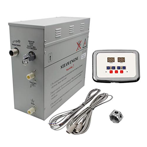 Superior 9kW Self-Draining Steam Bath Generator with Waterproof Programmable Controls and Chrome...
