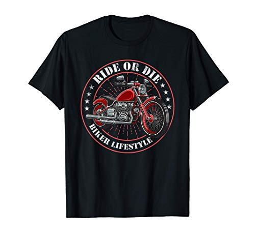 Chopper Biker Lifestyle Motorradfahrer - Ride or Die Retro T-Shirt