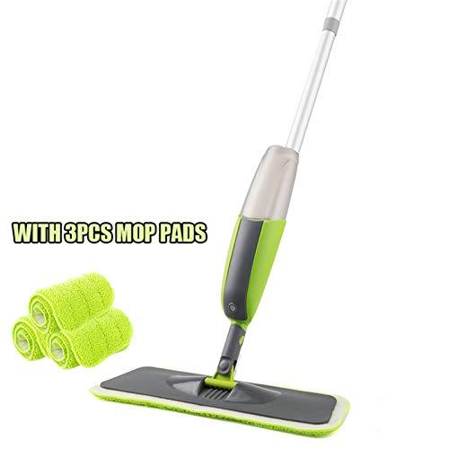 Súper fácil de usar Frife de limpieza de piso doméstico Spray Frega con almohadillas de microfibra reutilizable 360 GRUPO METAL MANGO MOP PARA COCINA DE COCINA Laminado Laminado Azulejos De Cerámica