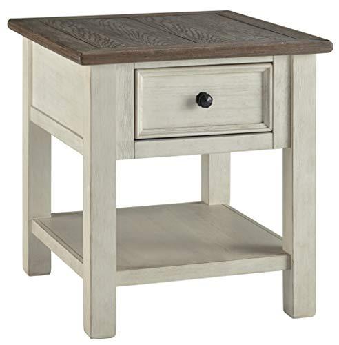 Signature Design by Ashley Bolanburg Rectangular End Table Two-tone