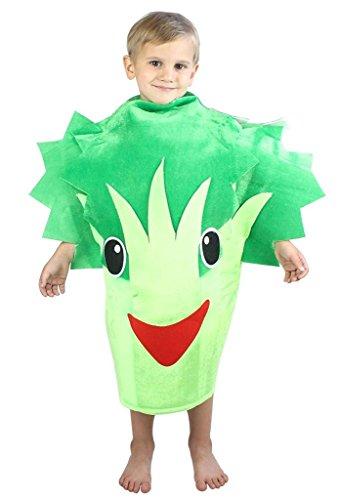 Petitebelle Verduras de Halloween de Frutas de Navidad del Partido del Traje Unisex Ropa de Vestir Un tamaño El apio brócoli