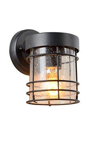 Lucide KEPPEL - wandlamp buiten - E27 - IP23 - zwart