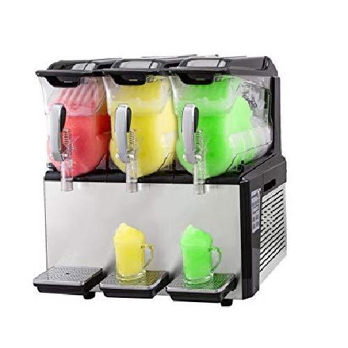 Anhon Máquina de Granizado de Bebidas Congeladas Acero Inoxidable 3X10L 500W Máquina de Bebidas Congelada Máquina de Fusión de Nieve