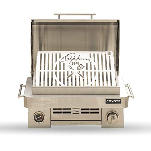 Bo Jackson Signature Portable Gas Grill by Coyote Outdoor - C1PORTLPBO, Grilling on The Go, Camping, Tailgating