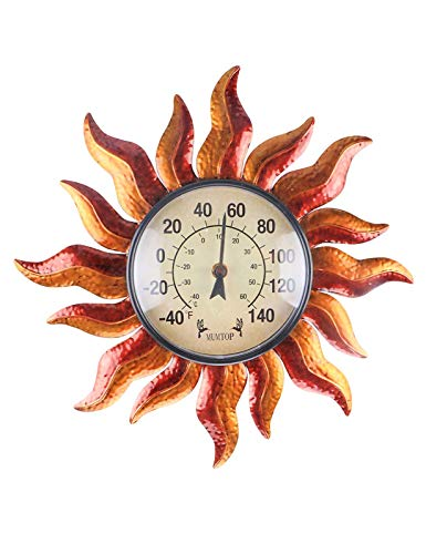 MUMTOP Thermometer Indoor Outdoor Sun Waterproof Wall-Mounted Thermometer Does not Require Any Battery