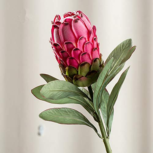 Meitao Kunstbloem, grote kunstzijde + kunststof bloemen voor bruiloft onze slinger kunstmatige planten Rood