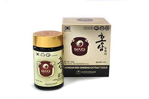 GINSENG ROUGE COREEN EXTRAIT GOLD 100g - Cure de 3 mois - La meilleure qualité de Ginseng Rouge Coréen - La plus forte concentration possible en Ginsénosides Rg1, Rb1, Rg3 > 13 mg/g.