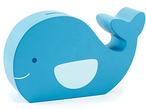 Pearhead 40002 - fun friends Holz Spardose, moby whale