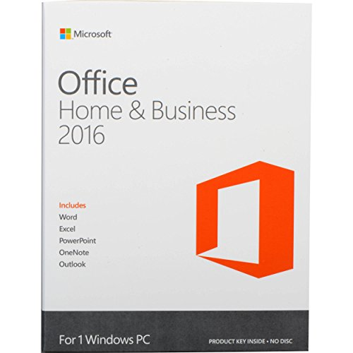 Microsoft Office 2016 - Home & Business (Windows) [1 dispositivo / versione perpetua]