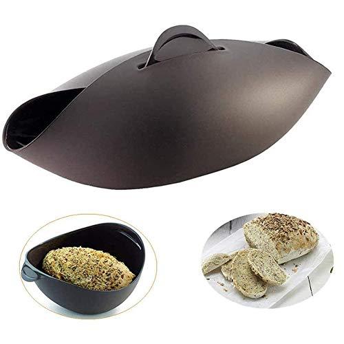 Pineocus Silikon-Brotmacher, Antihaft-Mikrowellen-Gemüse-Dampfer, Brotschüssel, Backform für hausgemachtes Brot, Hackbraten, Quiche, Fisch und Gemüse Für die Küche zu Hause