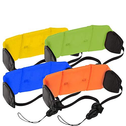 Kamera Float Handschlaufe-WENTS Wasserdichter Floating Foam Tragegurt für Kamera,Schlüssel, Sonnenbrille Blau/Gelb/Orange/Grün 12 * 6 cm 4PCS