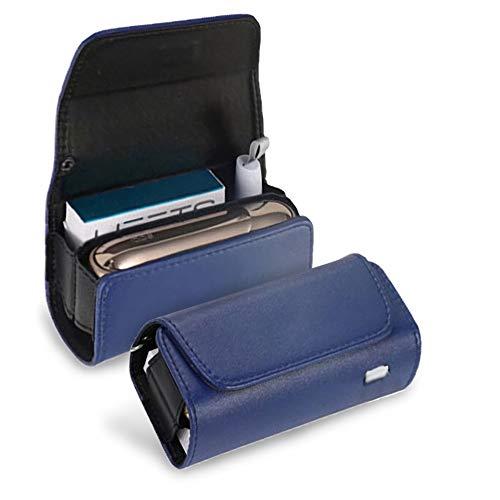 アイコス3ケース iqos3 ケース IQOS3 DUO 専用ケース IQOS3.0 電子たばこ IQOS3 キット 保護ケース 革 カバー レザーケース おしゃれ (ネイビー)