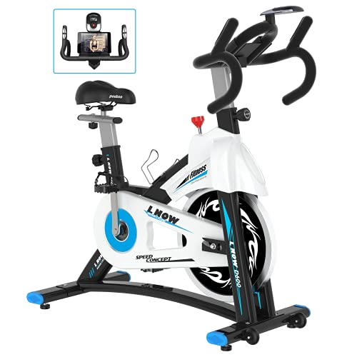 L NOW Indoor Exercise Bike Indoor Cycling Stationary Bike,...