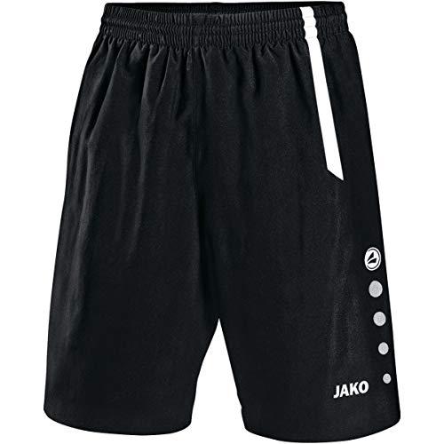 JAKO Herren Sporthose Turin, schwarz/weiß, M
