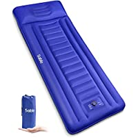 Sable Camping Sleeping Pad/Mat with Built-in Pillow & Pump