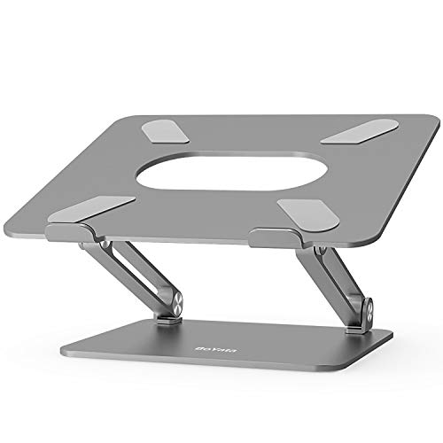 Boyata Laptop Stand, Adjustable Ergonomic Laptop Holder, Aluminium Alloy Notebook Stand Compatible for MacBook Pro/Air, Dell XPS, Lenovo, Samsung Laptops Up to 17 inches-Space Gray