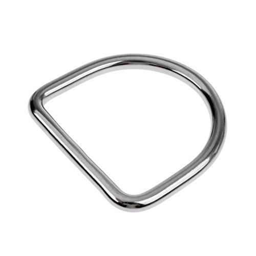 Gazechimp Tauchen 316 Edelstahl D Ring Unisex Tauchen Bleigürtel D-Ringe, Gürtelschnalle für 5cm Gurtband