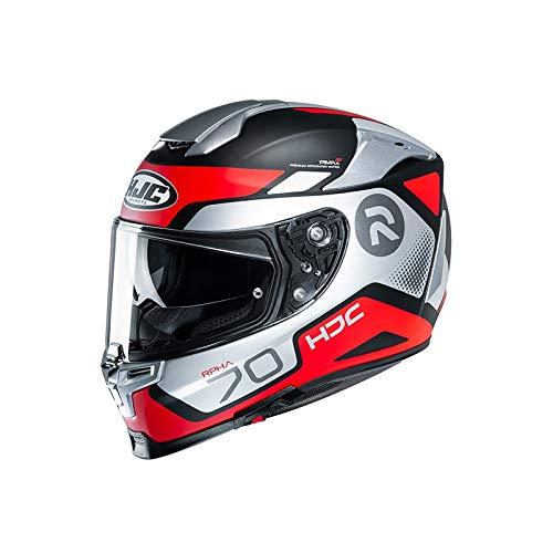 HJC Helmets Herren Nc Motorrad Helm, Schwarz/Weiss/Rot, L