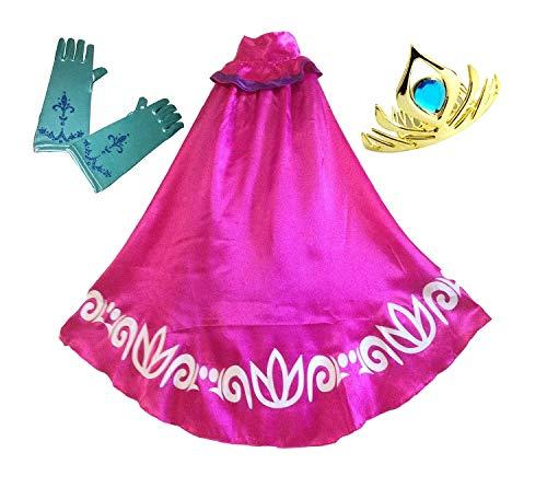 BlueField Swaroser Elsa Coronation Costume Girl's Long Cape Clock with...