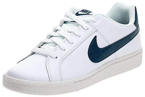 Nike Court Royale, Zapatillas Mujer, Blanco/Azul valeriana, 37.5 EU