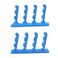 #N/A ウォールマウントホルダーディスプレイラックプラスチック矢印吊り壁の装飾ロングボウジッパーバッグ簡単に使用のワードローブキッチン軽量主催 - ブルー