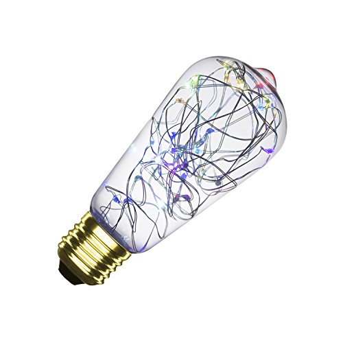 LEDKIA LIGHTING Bombilla LED RGB E27 Casquillo Gordo Filamento Luces Lemon ST58...