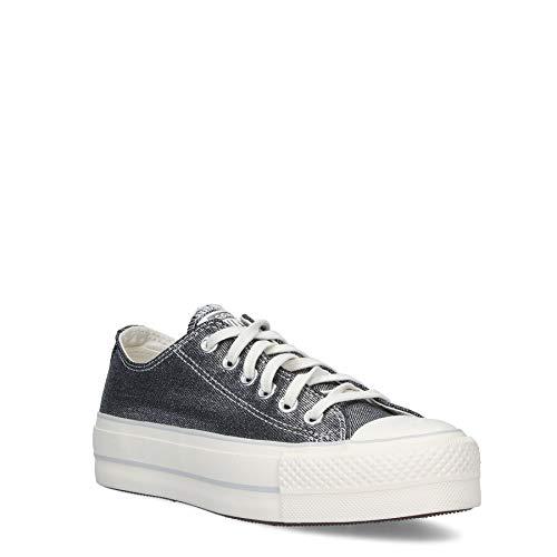 Converse Zapatillas Chuck Taylor All Star Lift Black Egret Silver para mujer Plateado Size: 38 EU