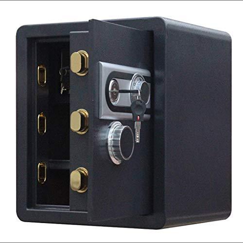 DSHUJC Caja Fuerte, contraseña mecánica Caja Fuerte empotrada en la Pared para Oficina en casa Refuerzo de Acero de tamaño Mediano Caja Fuerte de 45 cm de Alto - Color