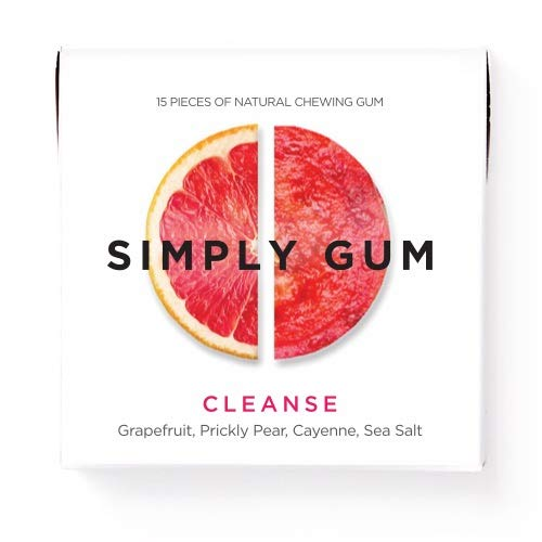 Simply Gum | Chewing Gum | Cleanse | Pack of Six (90 Pieces Total) | Vegan + non GMO