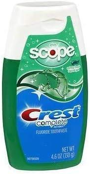 Crest Plus Max 87% OFF Scope Toothpaste overseas Liquid Gel 4.6 - Minty Pac Fresh oz