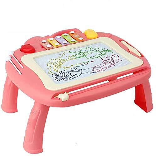 Pizarras Magica Infantil Colorido con Pluma Grande Color Magnético Doodle Sketch Pad para Niños Infantiles,Pink