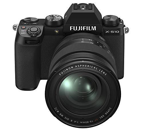 Fujifilm X-S10 Mirrorless Digital Camera XF16-80mm Lens Kit - Black (X-S10 XF16-80mm Kit - Black)