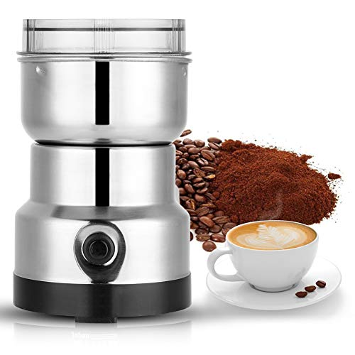 Molinillo de café eléctrico 200W, Cuchilla de Acero Inoxidable Coffee Grinder, Electric Coffee Bean, Herb, Spice Grinder Machine Molinos de...