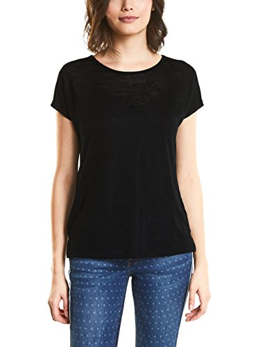 Street One Damen 312060 T-Shirt, Schwarz (Black 10001), 42