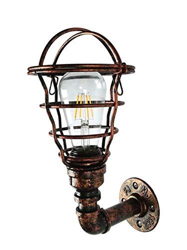 GaLon Wandlamp met waterpijp, Europese retro-wind, industrie, slaapkamer, creatieve wandlamp, buitenwand, terras, buiten, waterdicht, balkon, ijzeren buis