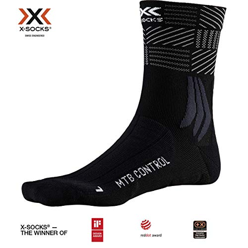 X-Socks MTB Control, Calzini da Ciclismo Unisex-Adulto, Opal Black/Multi, 42-44