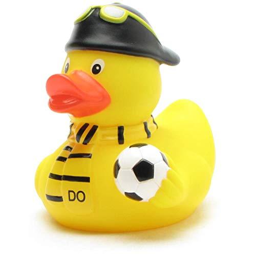 Duckshop I Badeenten Fußball-Fan schwarz-gelb Dortmund I Quietscheente I L: 8 cm