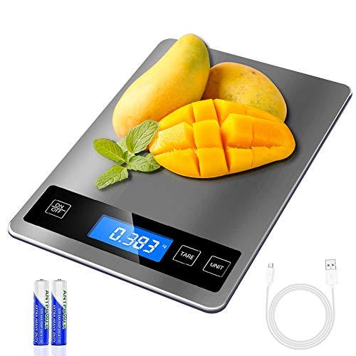 REEXBON Báscula Digital para Cocina de Acero...