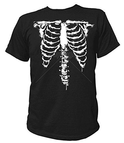 Artdiktat Herren T-Shirt - Skelett White Ink Größe XXL, schwarz